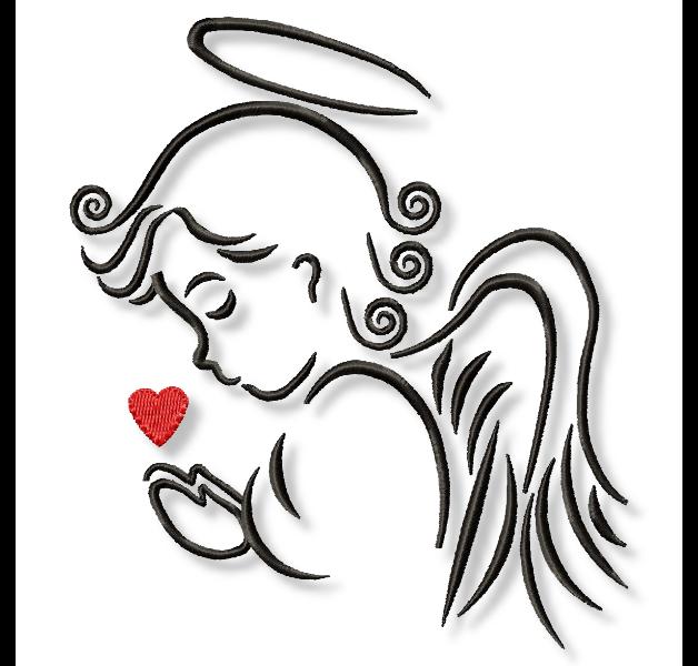 toller engel mit herz ein ganz tolles motiv zur taufe