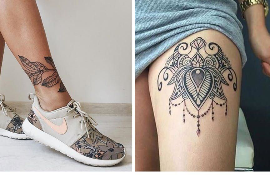 tatoveringer på benet