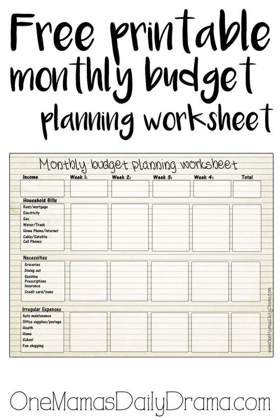 photograph relating to Free Printable Drama Worksheets named Printable Regular monthly Spending plan Worksheet Excellent of Just one Mamas