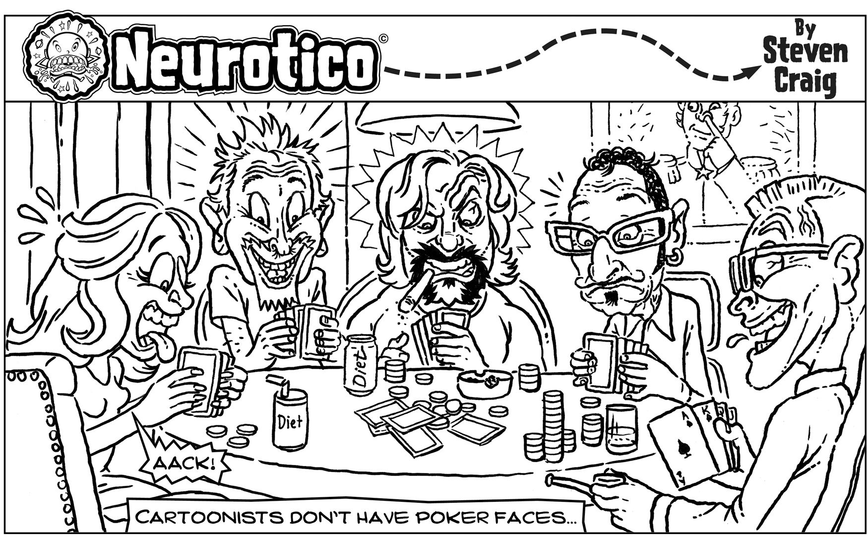 Panel 94 Poker Playing Cartoonists.jpg 1,750×1,082 pixels Cartoon Comic