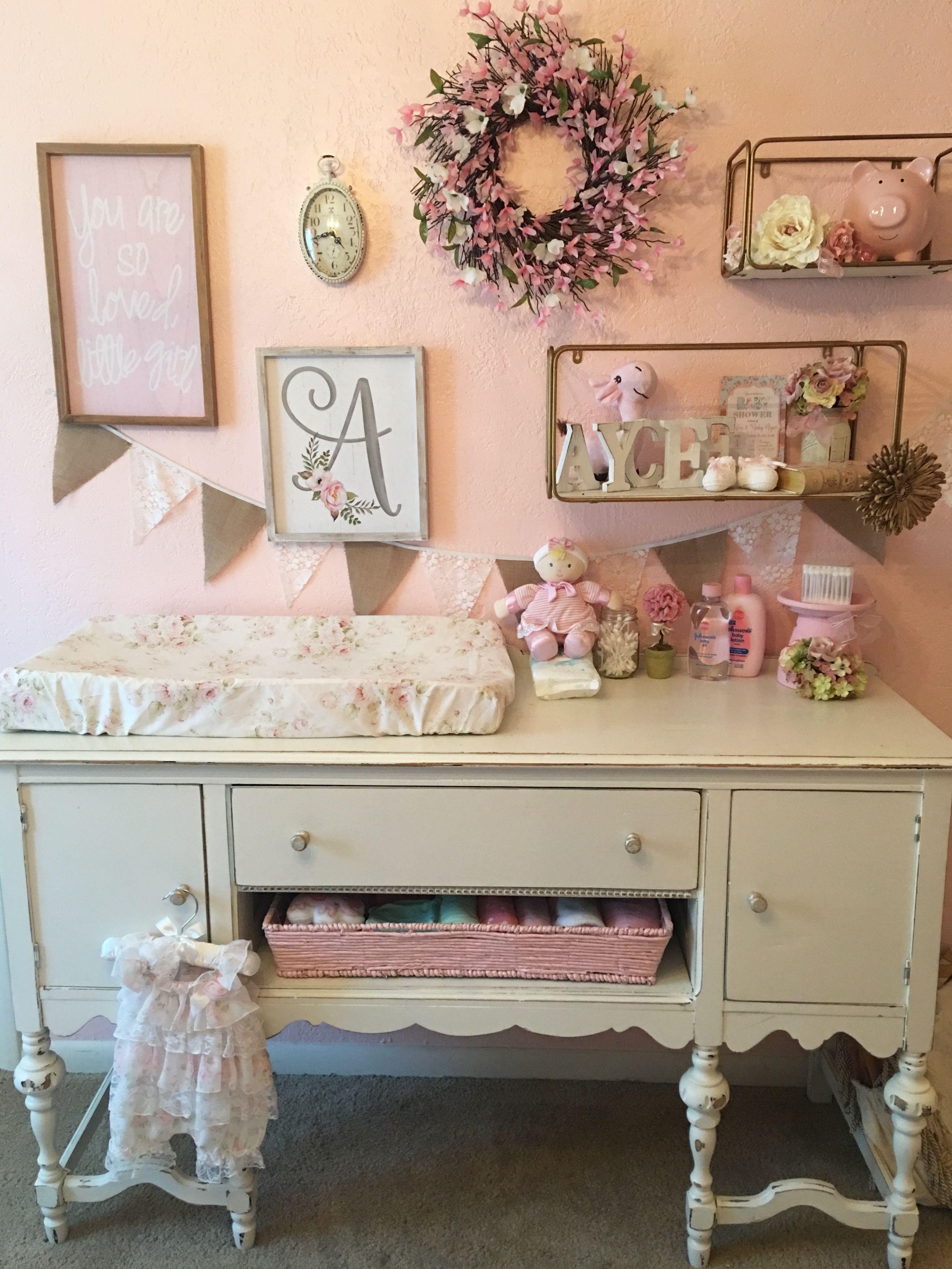 Shabby Chic Nursery Baby girl nursery Pinterest