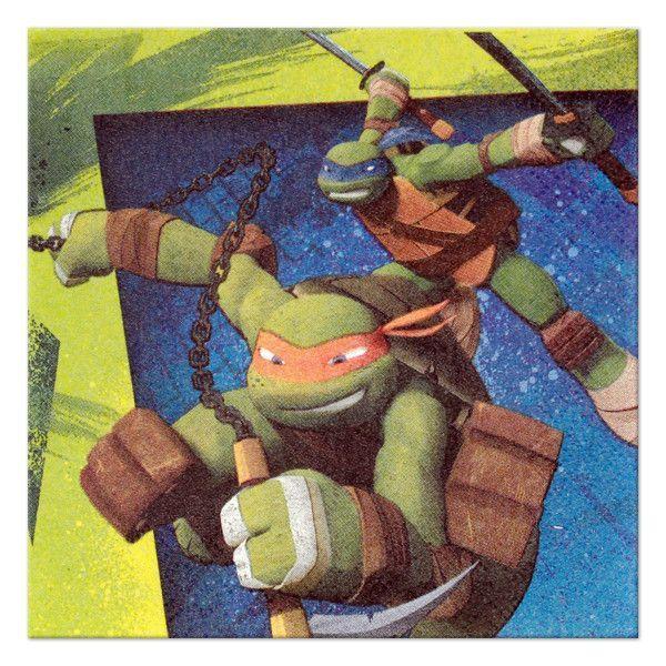 Teenage Mutant Ninja Turtles Beverage Napkin 16ct