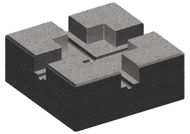 Plot Beton Pour Lambourde Gris 24 X 24 Cm Brico Depot En 2020 Plot Beton Beton Plancher Bois
