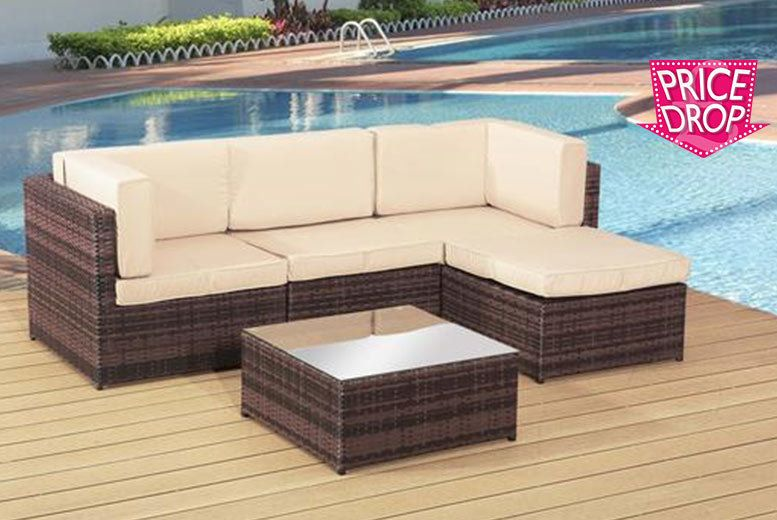 Buy Rattan 4-Seater Garden Lounge Set UK deal for just £24900 £249
