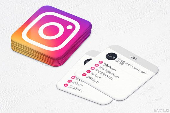 Mini Instgram Cards - 2016 - Business Cards - Social Media - Design and Printing - 250, 500, 1000, 2500 | FREE Shipping |