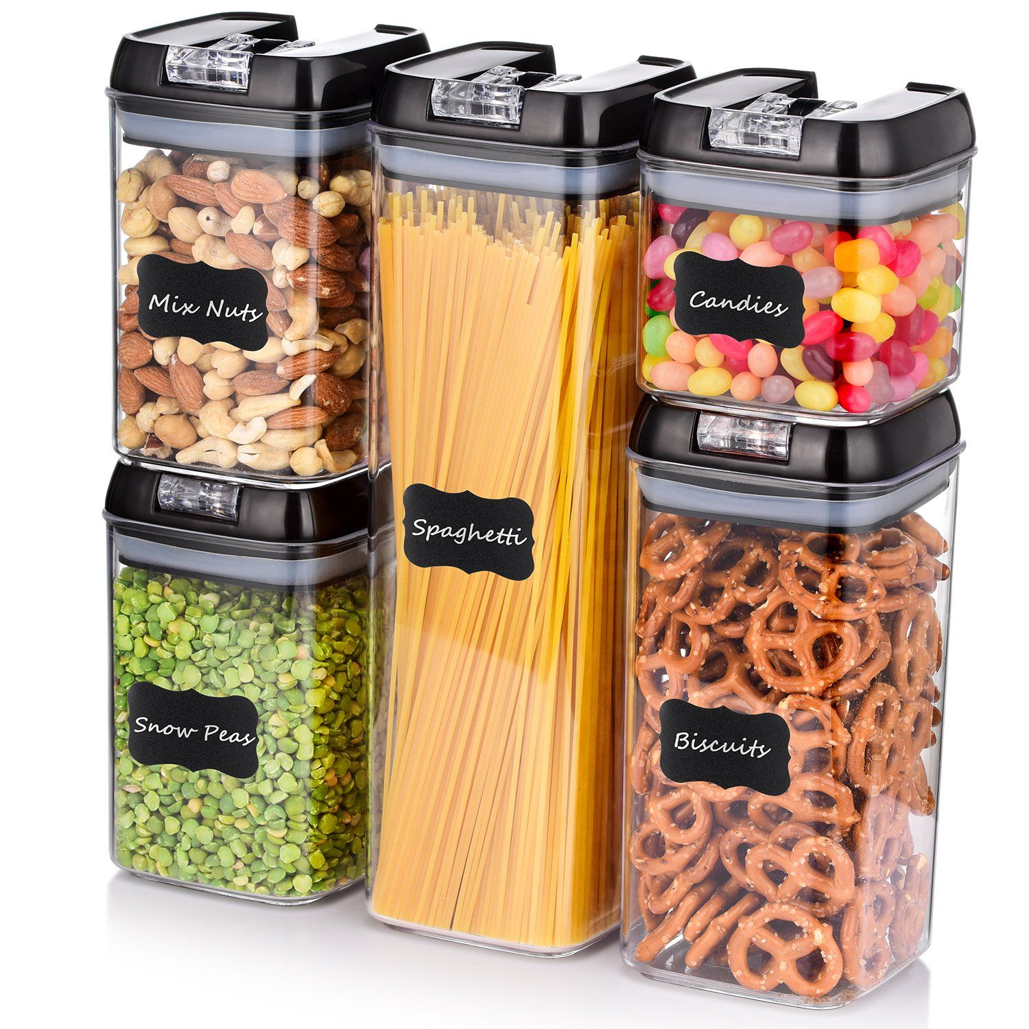 Me Fan Airtight Food Storage Container Set 5piece Set Durable