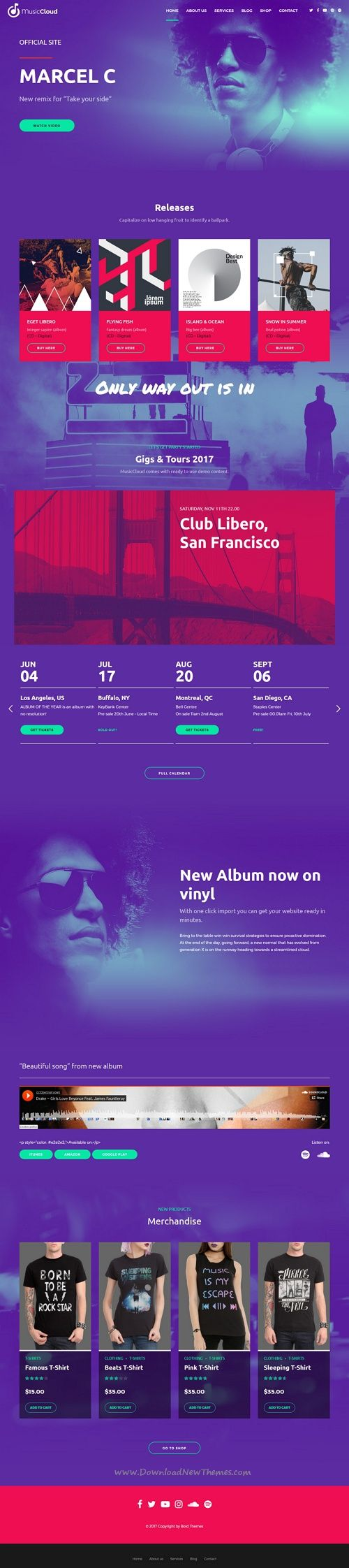 Music Club - Music, Band, Studio & DJ | Wordpress, Studio and Template