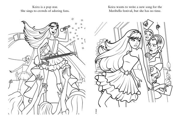 Princess And The Popstar Coloring Page Star Coloring Pages Barbie Coloring Pages Barbie Coloring