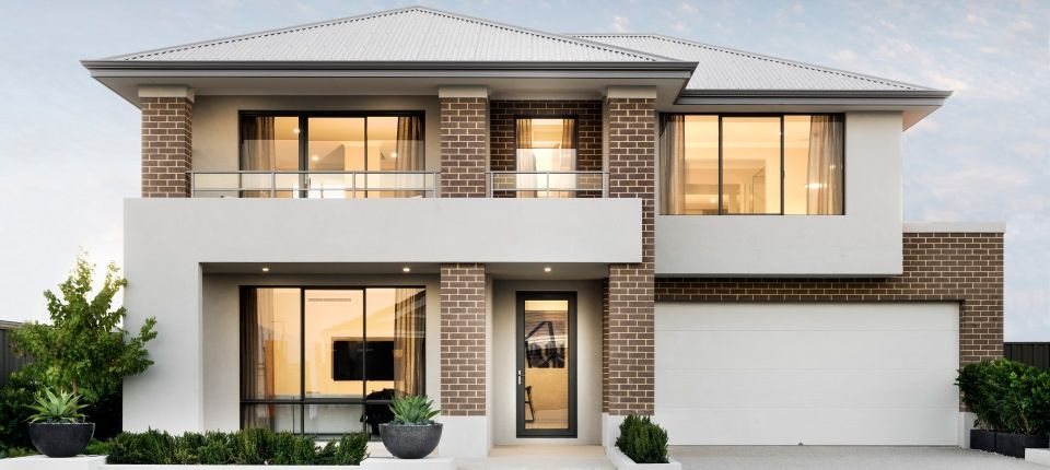 Apg Homes Maddison Display Home Facade In 2019 House Design Two Storey House Facade House