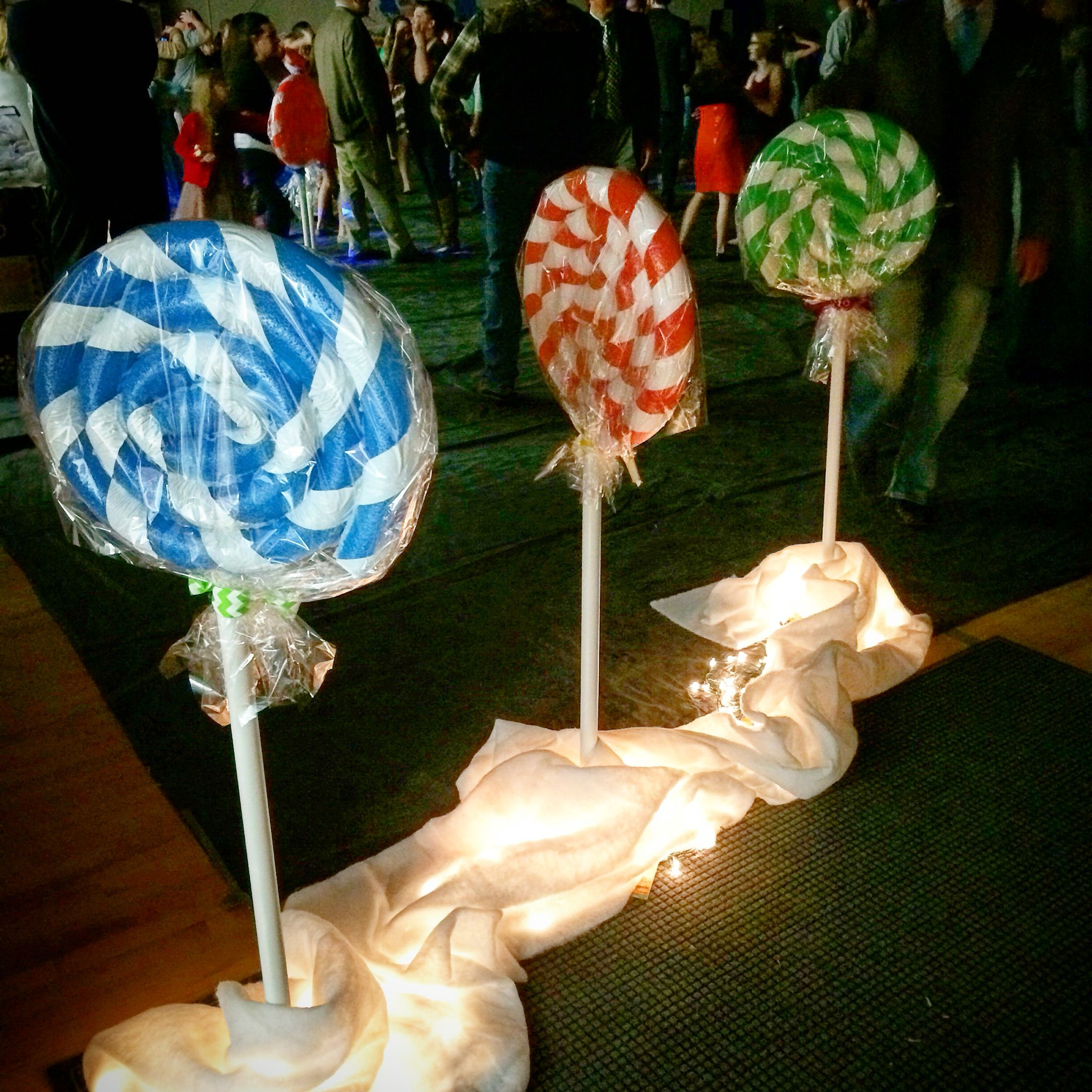 Pool noodle lollipops (With images) | Candy christmas ...