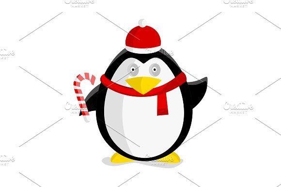 Christmas Penguin by robuart on @creativemarket
