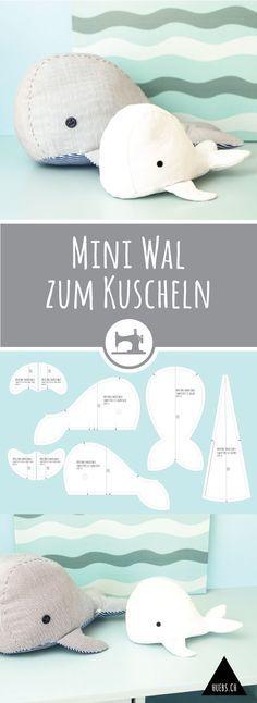 Mini Wal zum Kuscheln #animauxentissu