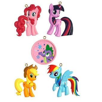 Amazon.com: American Greetings 5-Piece Christmas Ornament Set - My Little Pony: Home & Kitchen