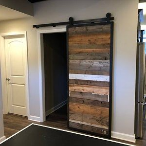 Barn doors in reclaimed wood – tracks included