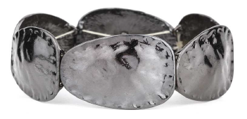 Oval Disk Hematite Bracelet.  Item #PB0106BN  Available at Impulse Gifts 812.481.2880 We ship daily.   https://www.facebook.com/ImpulseJasper