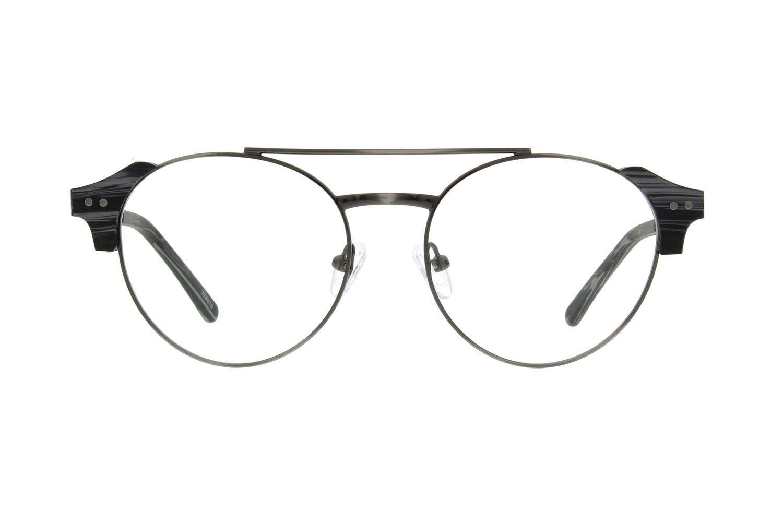 8dbd422035 Zenni Round Prescription Eyeglasses Gray Stainless Steel 328012 ...