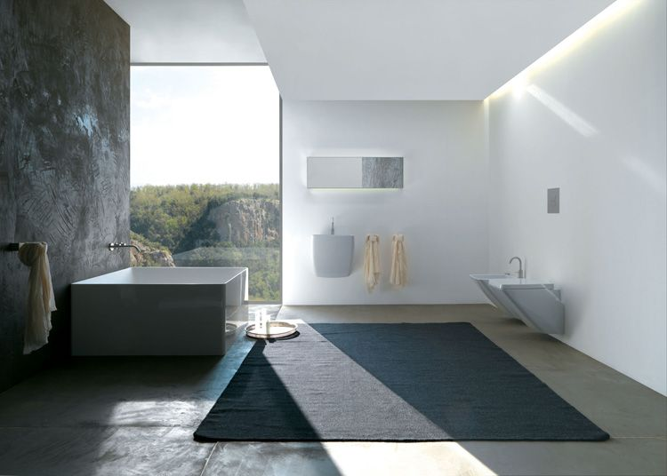 bathrooms to die for Luxus-Badezimmer-Teppich-Badewanne - badezimmer steinwand