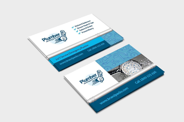 Plumber Business Card Template By Brandpacks On Creativemarket Business Card Template Cute Business Cards Business Cards Creative