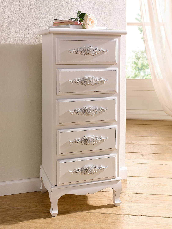 Best Amazon Com Antique White Shabby Chic Wood Dresser W 400 x 300