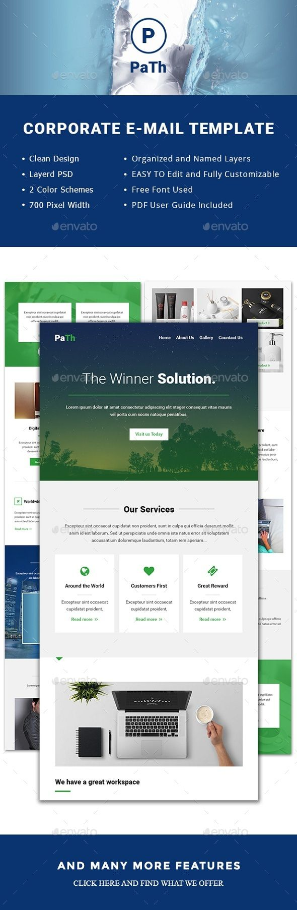Path Email Template Pinterest Template Paths And Flat Design