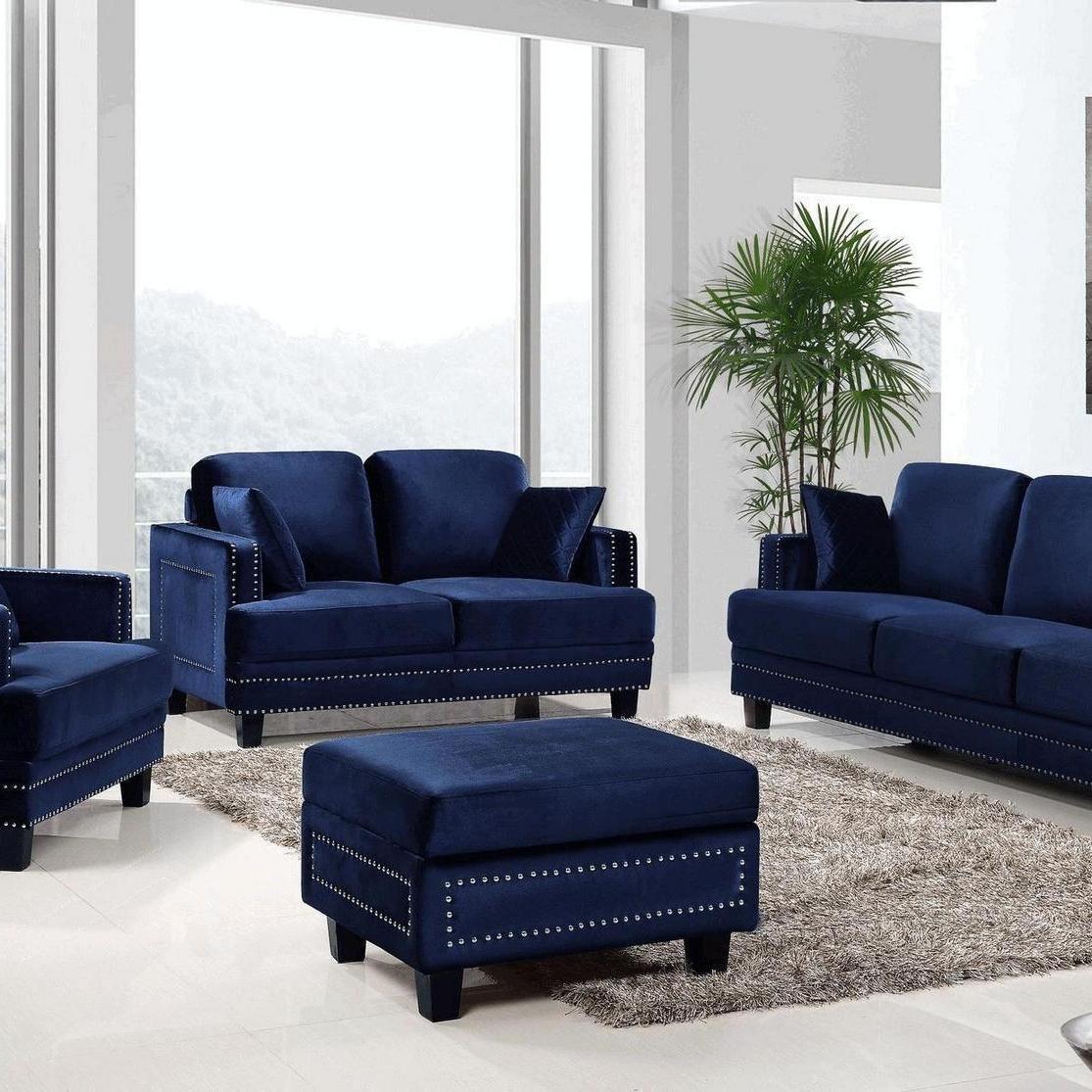 45+ The Confidential Secrets of Navy Blue Sofas Living ...