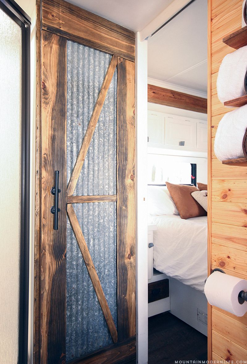 Rustic Modern Rv Tour Remodeled Campers Travel Trailer