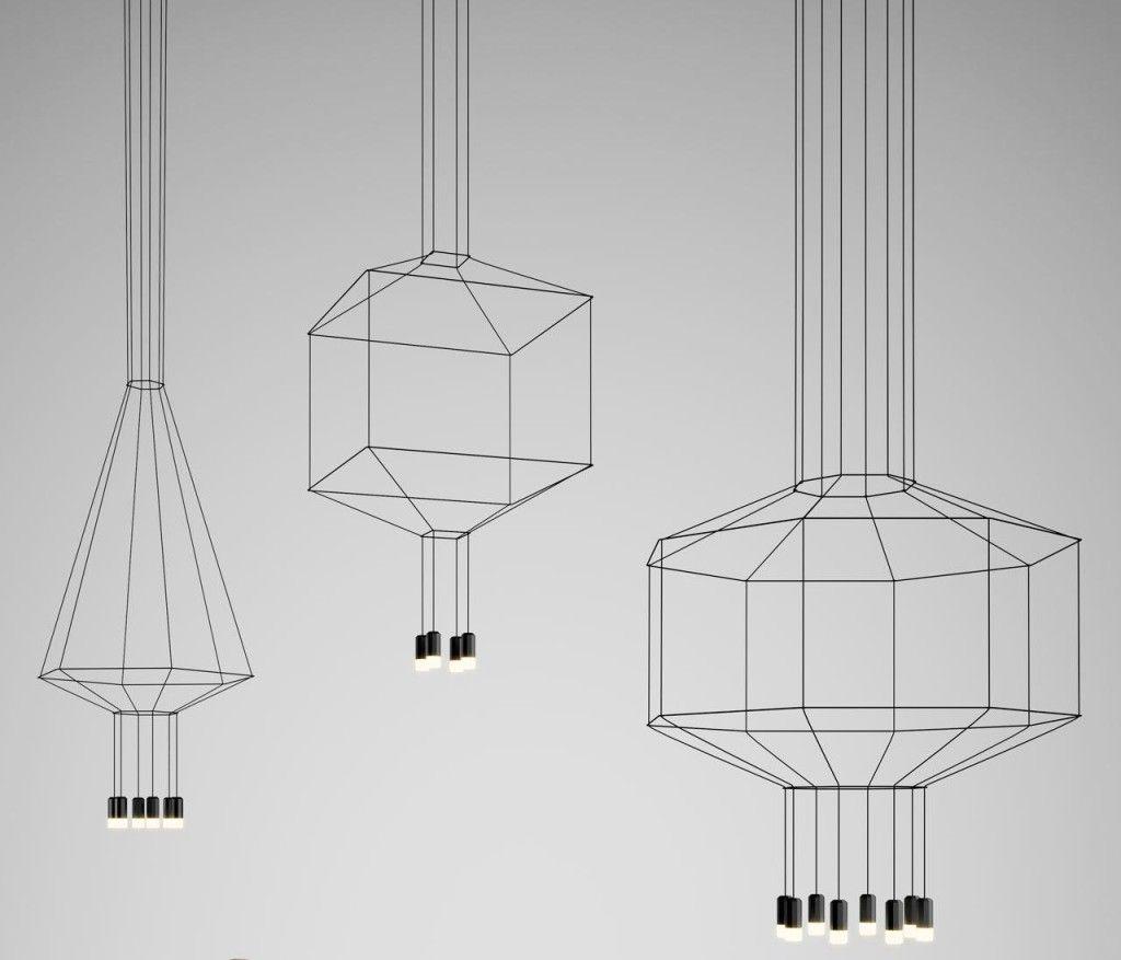 Seemingly 2d Lighting Designs Inspiring Frailty And Elegance Wireflow Geometric Lighting Drawing Lighting Trendy Lighting
