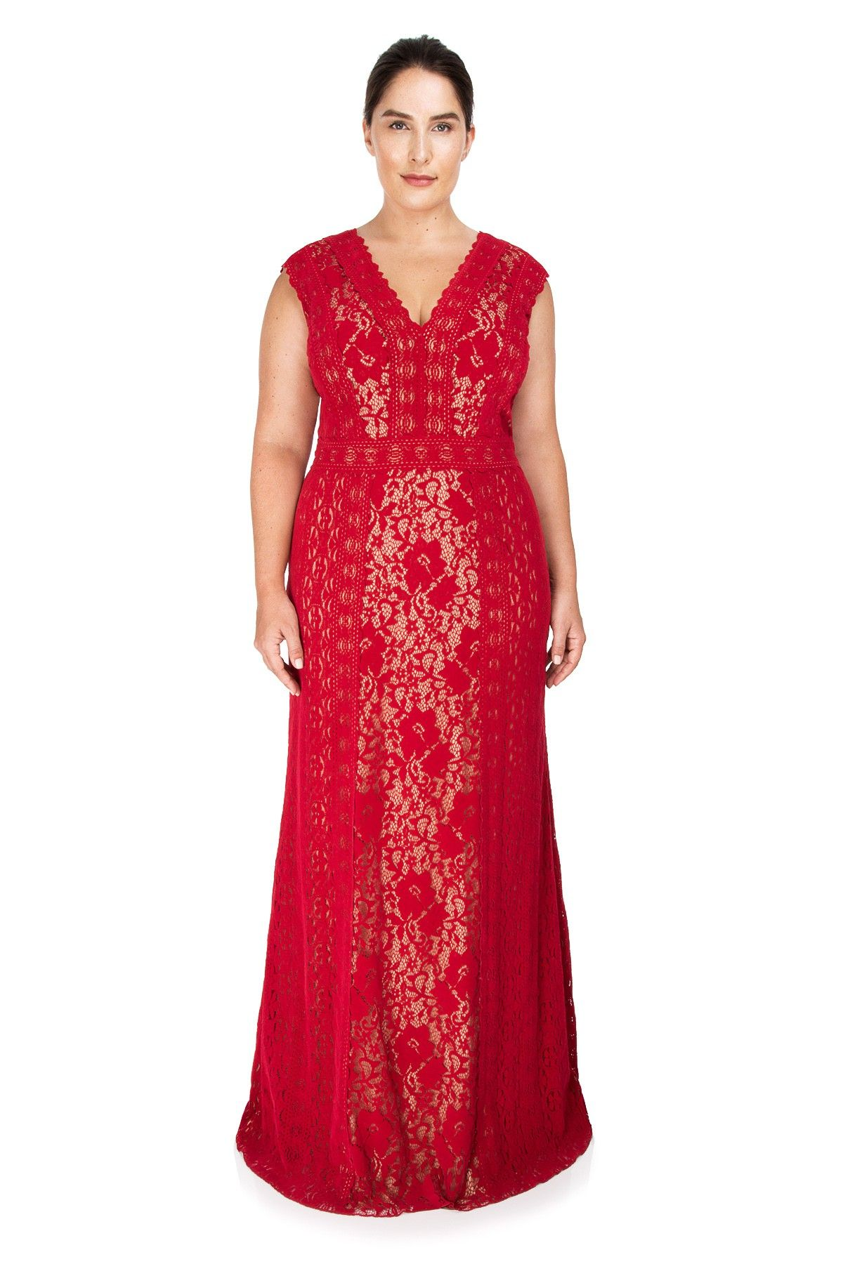 Plus Size Red After 5 Dresses | Saddha