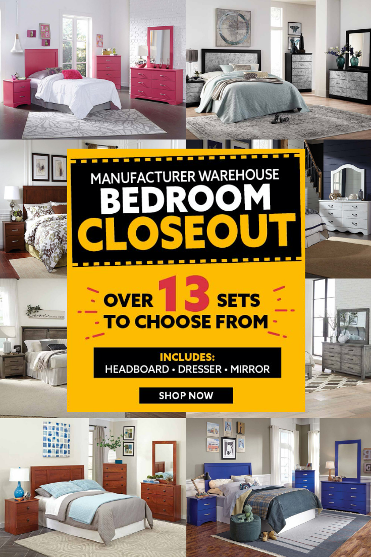 Choose from over 11 of our favorite 11 PC bedroom sets during our