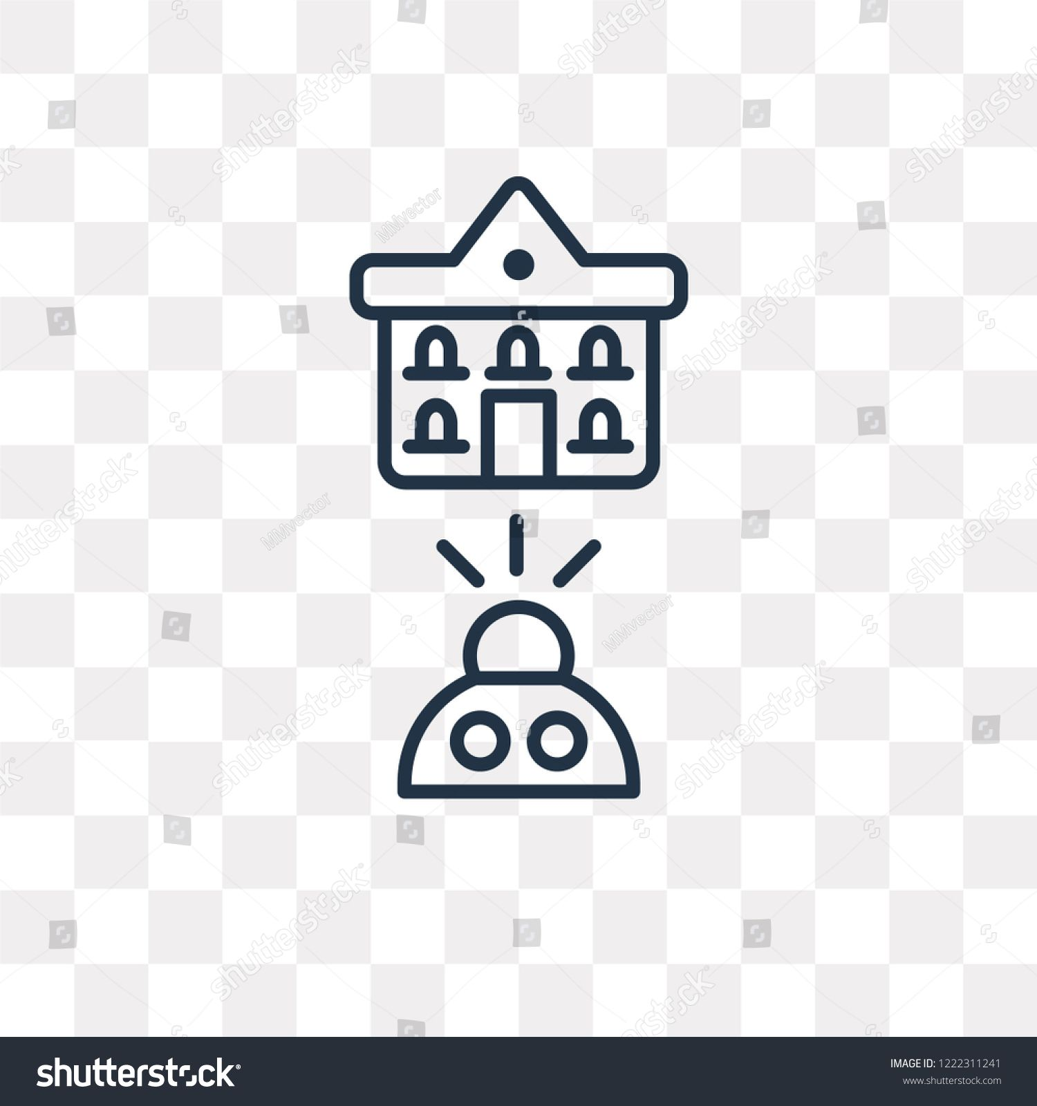 Online Education Vector Outline Icon Isolated On Transparent