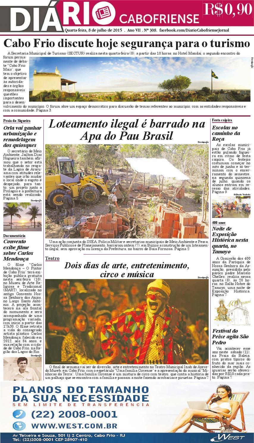 Folheie aqui o DIÁRIO CABOFRIENSE de quarta-feira, 8 de julho. Boa leitura <3  Telma Flora | editora chefe <3