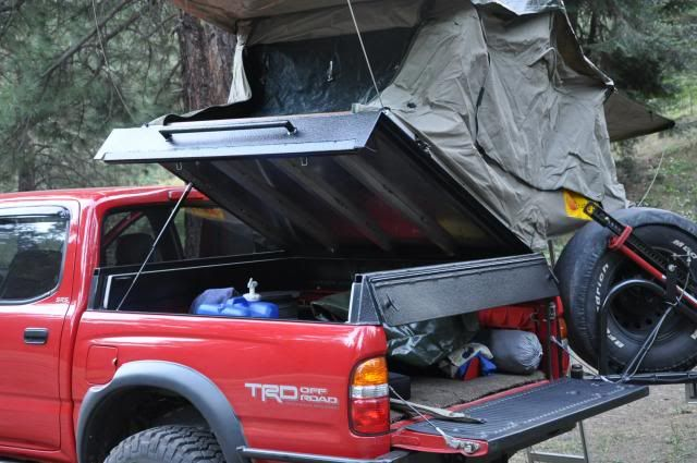 Hinged Rtt Bed Rack Design Expedition Portal Tacoma Truck Camping Truck Bed