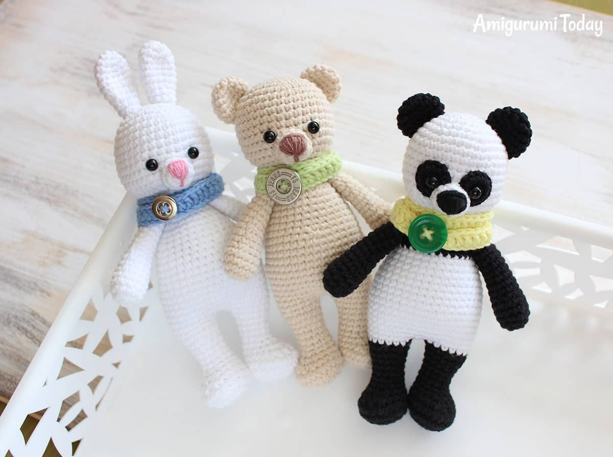 Amigurumi Voor Beginners : Cuddle me panda amigurumi pattern free amigurumi patterns