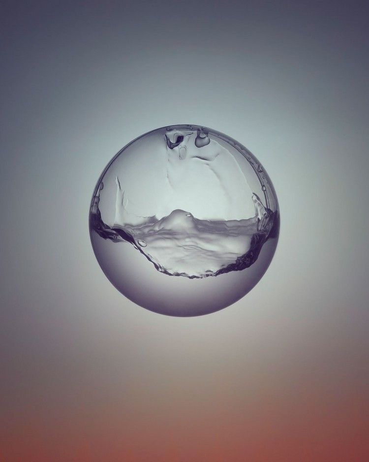 """Day & Night"" is a Project by Owen Silverwood #gradient #water"