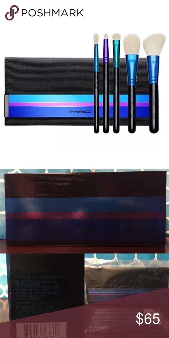 Mac Makeup 6pc Travel Brush Kit W Pouch Set Lot Travel Brushes Travel Size Products Brush Kit