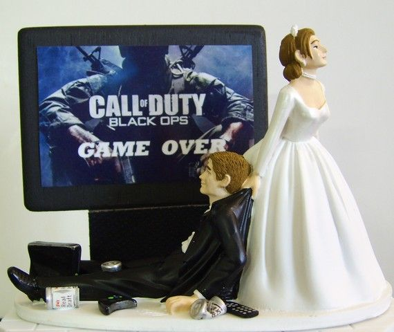 Video Junkie Groom Customized Wedding Cake Topper The Original Call Of Dutyso