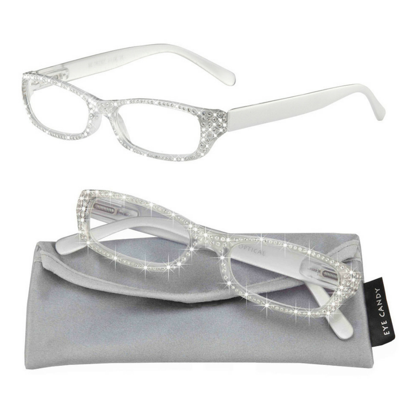 0b047fa3a1 Love to bedazzle everything with bling  Our Frost reading glasses will  brighten up your face