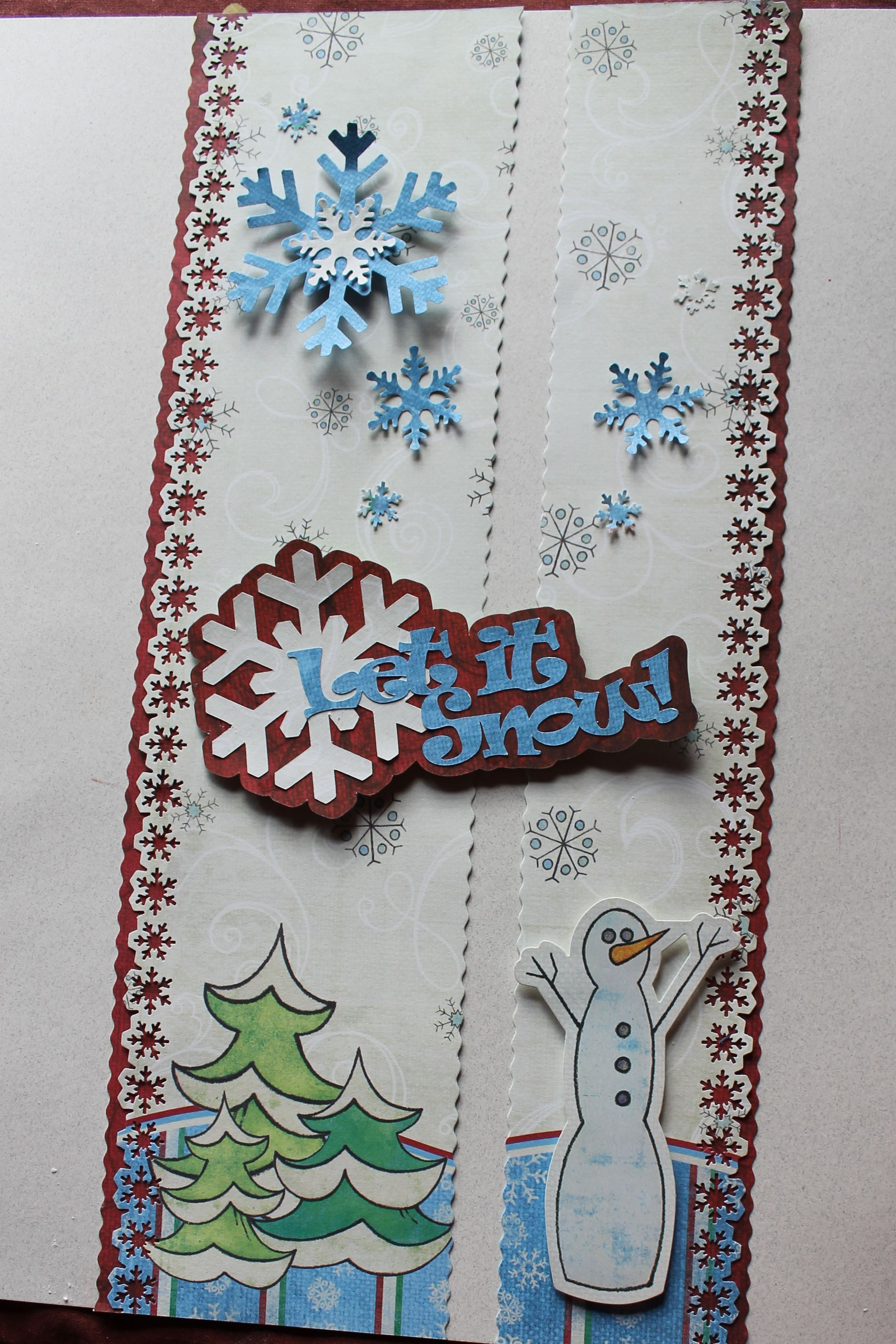 Primary Christmas paper. I bought a Martha Stewart snowflake border ...