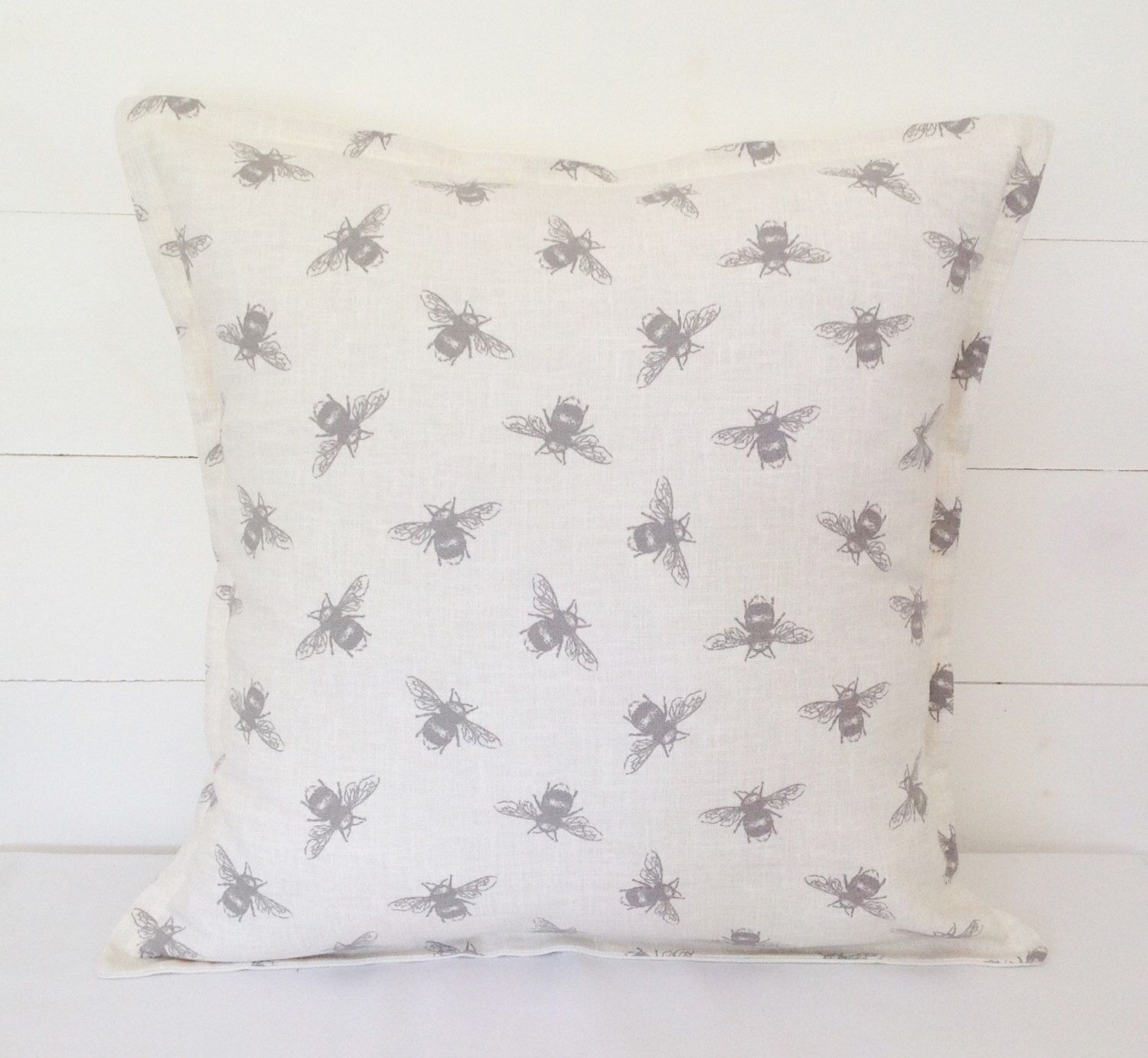 Bees cushion cover bees pillow case by lottieanndesigns on etsy