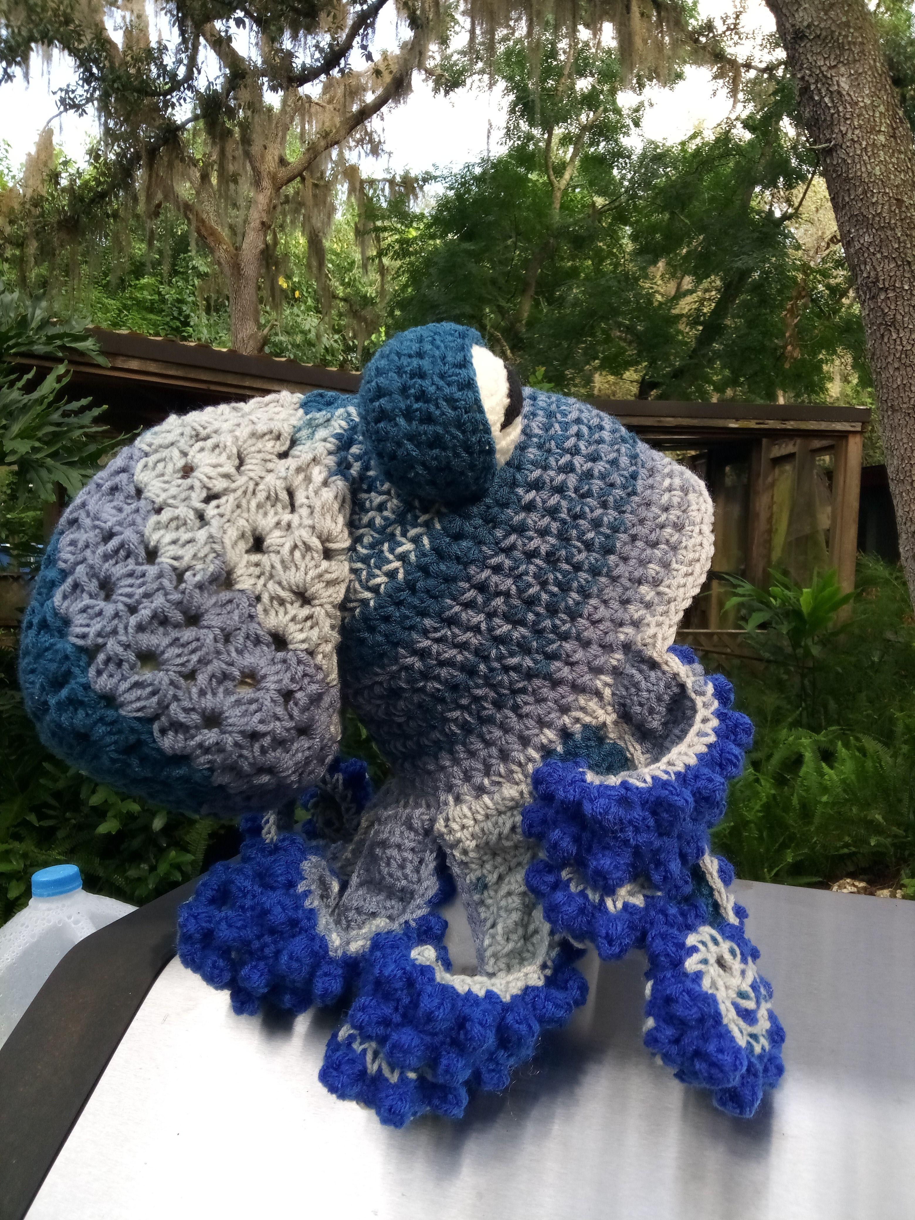 Blue Willow Octopus Hat Octopus Hat Handmade Crochet Crochet Gifts