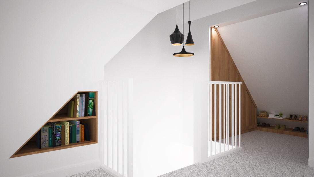 Interieurontwerp van een zolderverdieping in maasdijk. ontwerp van