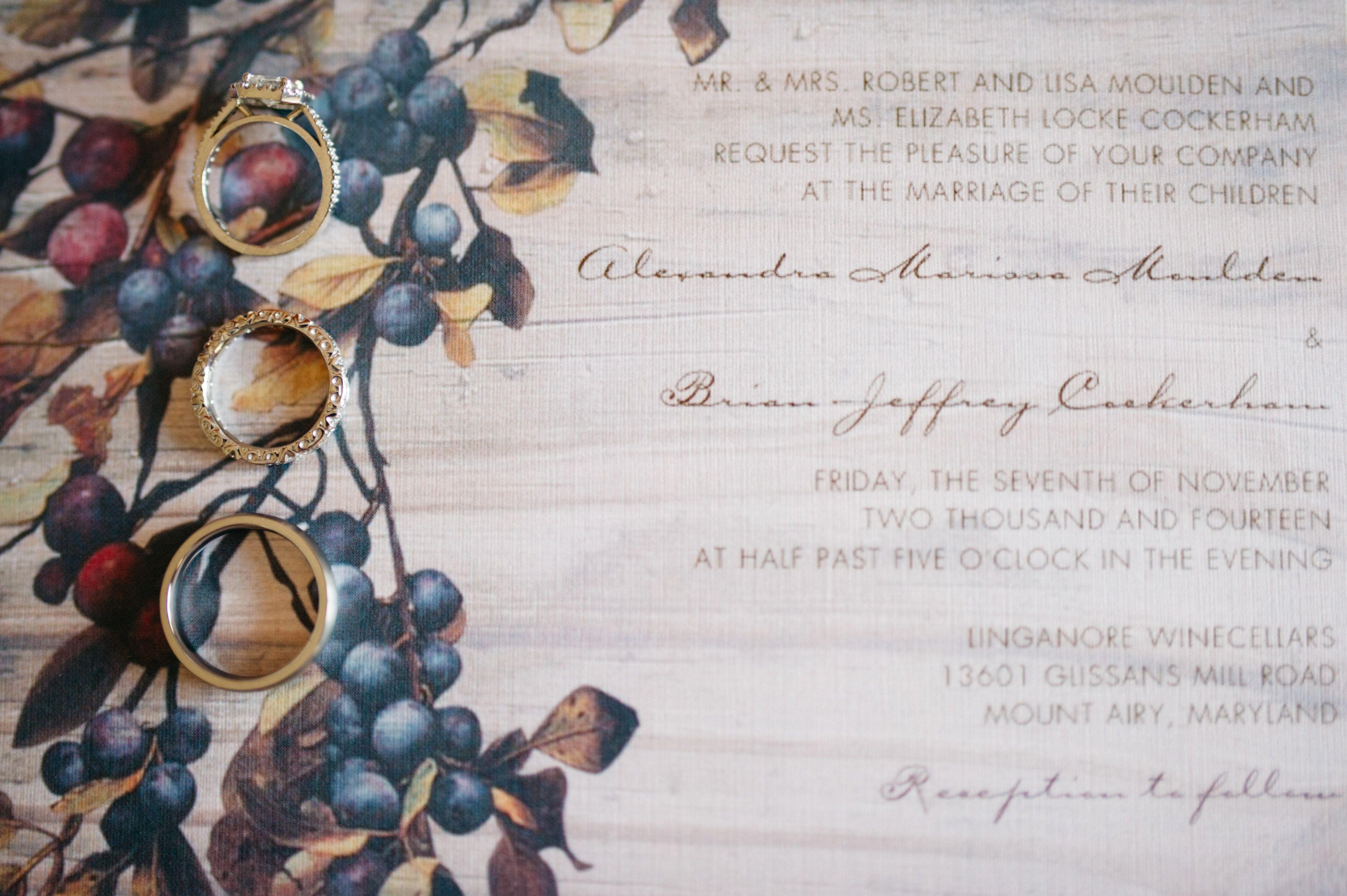 Vineyard Themed Wedding Invitations | Wedding Evite alternatives ...