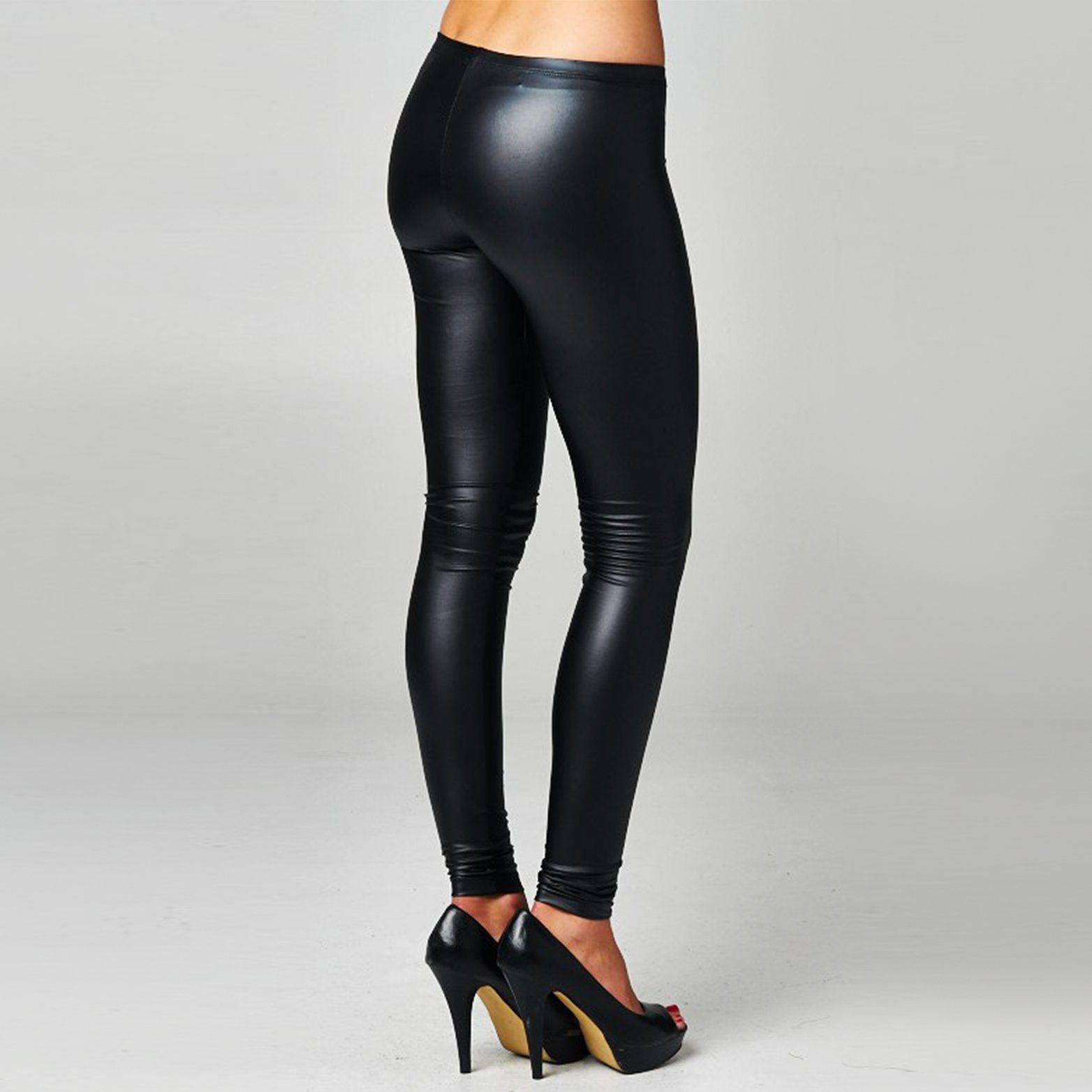 3f6eb18546717 Extra soft, retro-stylish vibes in faux leather leggings. Perfect for  pairing with