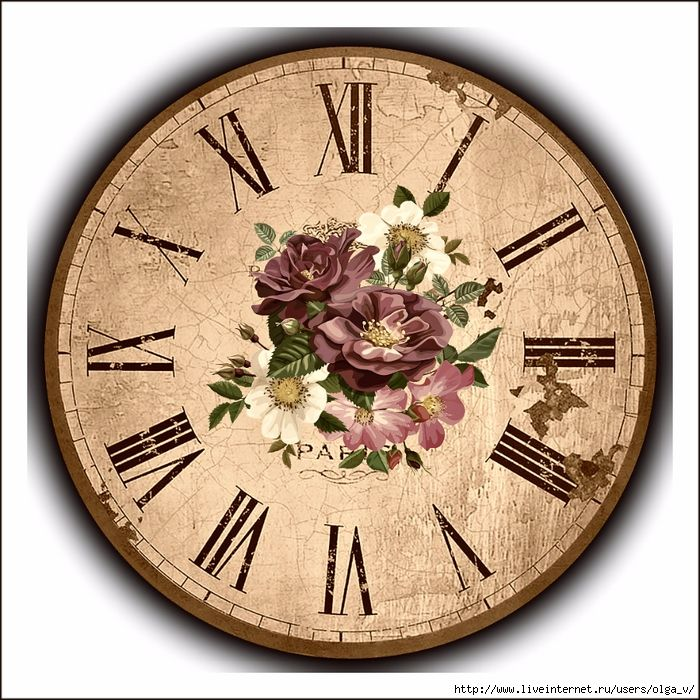 Циферблат для настенных часов картинки без стрелок