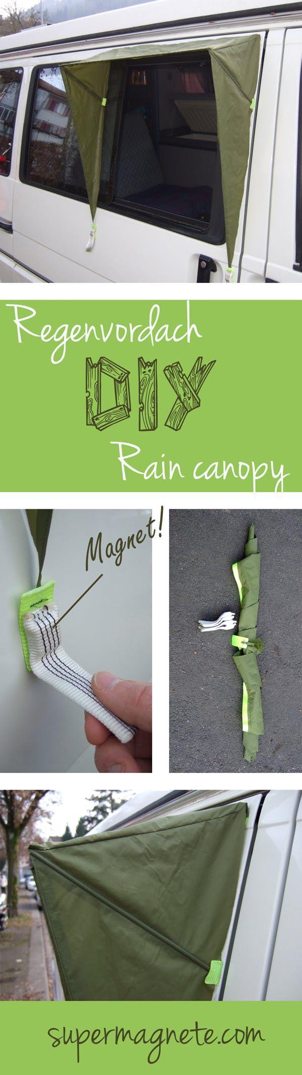 Regenvordach fürs Wohnmobil - Magnet-Anwendungen - supermagnete #wohnwagen