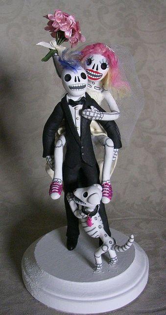 Day of the Dead Wedding Cake Topper | Wedding cake, Wedding and Wedding