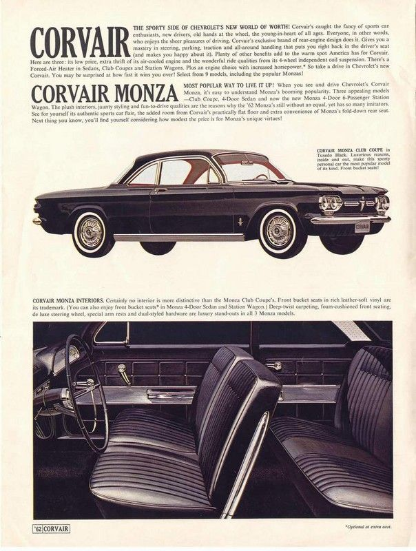62 Chevy Corvair Interior Classic Chevy Trucks Chevrolet Corvair Chevy Corvair