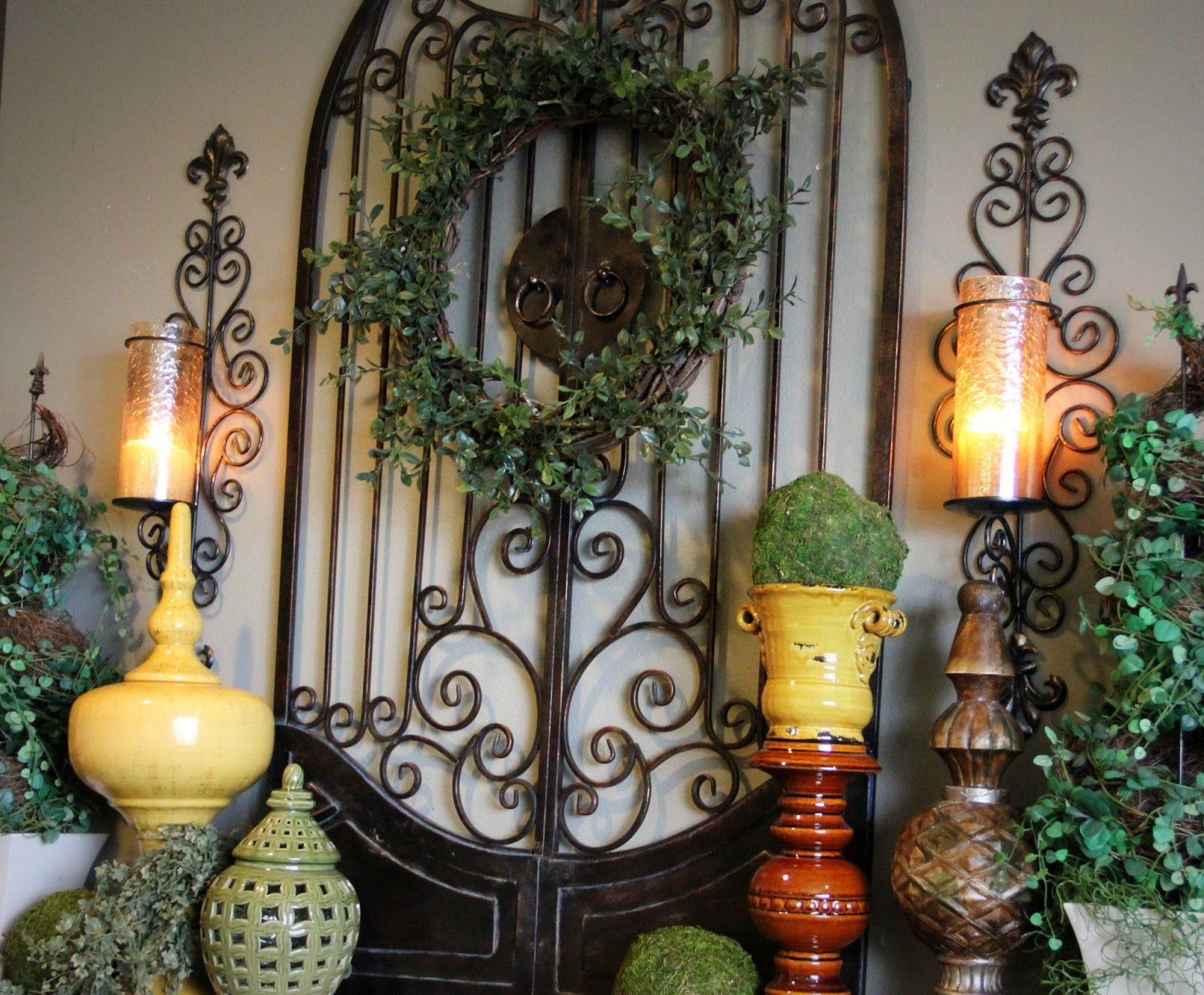 Mediterranean Tuscan World Decor: Old World Style Tuscan Mantle
