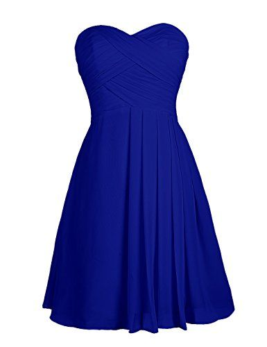 966ee3f7bfd Dressystar Bridesmaid Dress Short Evening Dress for Girls Royal Blue Size 2  Dressystar http   www.amazon .com dp B00GASBGB8 ref cm sw r pi dp juiQvb1RRY4E6