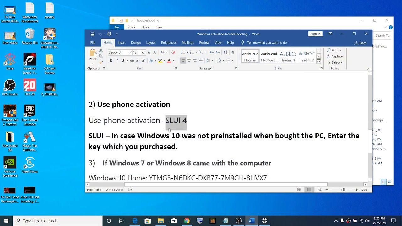 Fix Windows 10 Activation Error Code 0xc004f213 0x800704cf In